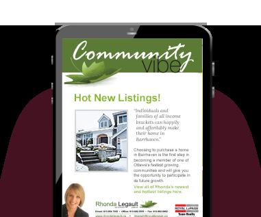 Rhonda's Real Estate Newsletter Community Vibe