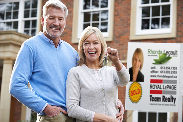 middle-aged couple bought new home